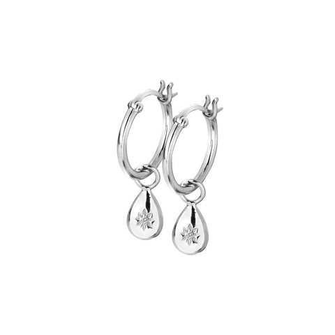 Hot Diamonds Hoops Teardrop Drop Earrings DE627
