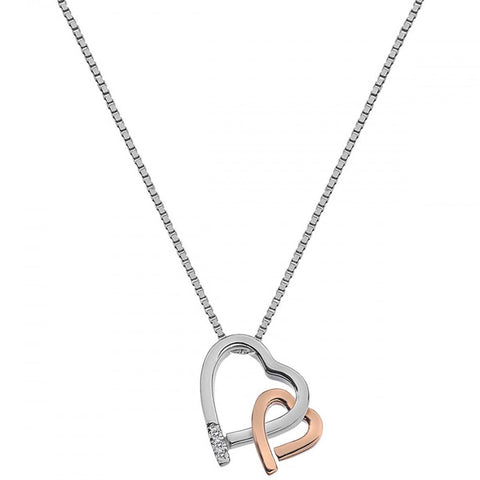 Hot Diamonds Amore Hearts Rose Gold Pendant DP660