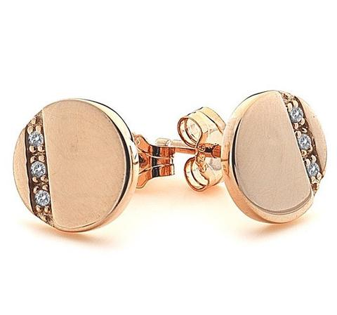 Hot Diamonds Rose Gold Silhouette Circle Stud Earrings DE446 2003197