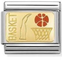 Nomination 18ct Gold & Enamel Basketball Charm 030287 09