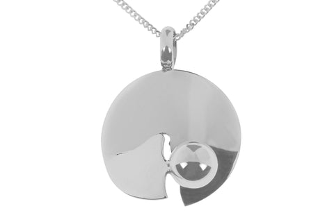 Tianguis Jackson Sterling Silver Disc & Ball Pendant CY0017 0402363