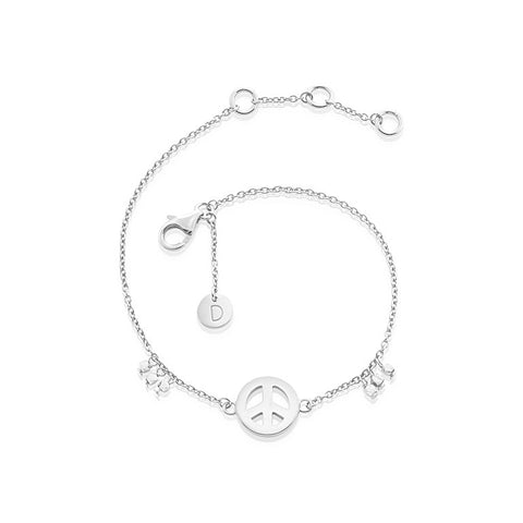Daisy - Good Karma Peace Sign Bracelet KBR3018 X