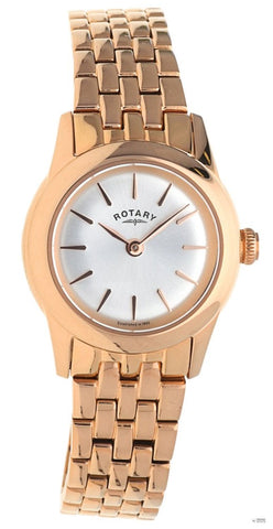 Rotary Ladies Rose Gold Plated Bracelet Watch LB02573/01