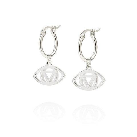 Daisy - Good Karma Evil Eye Drop Earrings KE4013 X