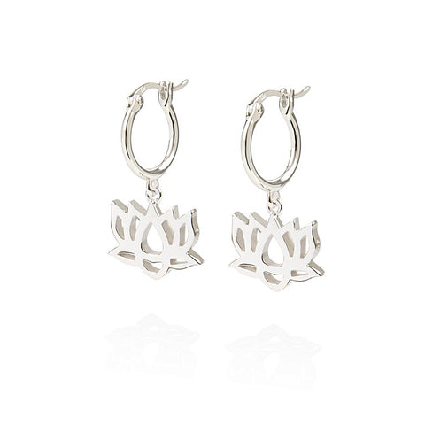 Daisy - Good Karma Lotus Drop Earrings KE4020 X