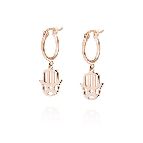 Daisy - Good Karma Hand of Fatima Drop Earrings KE6011 X