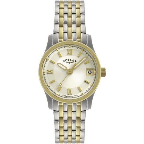 Rotary Ladies Two Tone Bracelet Watch LB10793/09