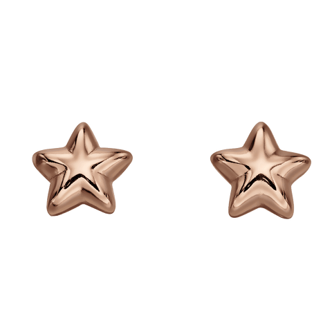 Little Star Jewellery - Amelia Rose Gold Star Stud Earrings LSE0150 0503005