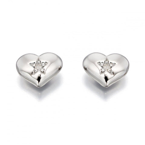Little Star Jewellery - Suri Heart Stud Earrings LSE0031 0503001