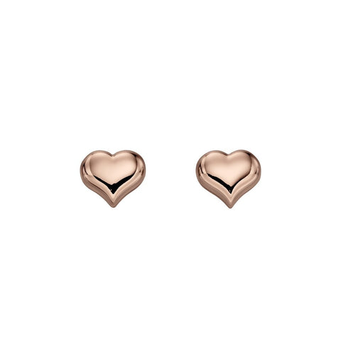 Little Star Jewellery - Emily Rose Gold Heart Stud Earrings LSE0151 0503006