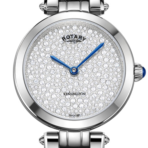 Rotary Ladies Kensington Pave Stainless Steel Bracelet Watch LB05190/33