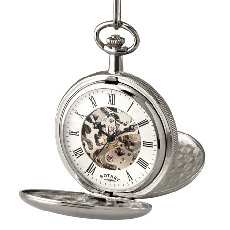 Rotary Timepieces Gents White Case Pocket Watch MP00726/01