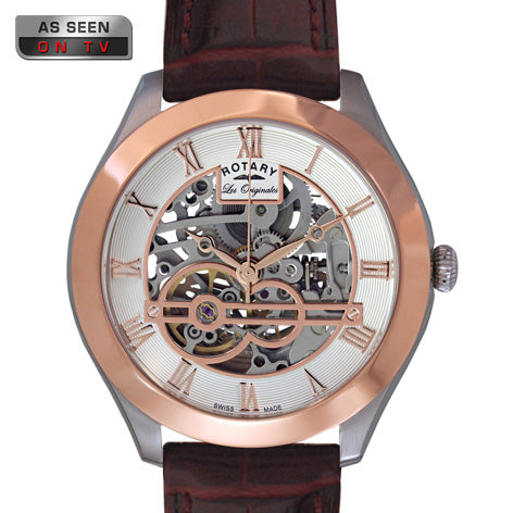 Rotary Gents Rose Gold Les Jura Watch GS90511/21