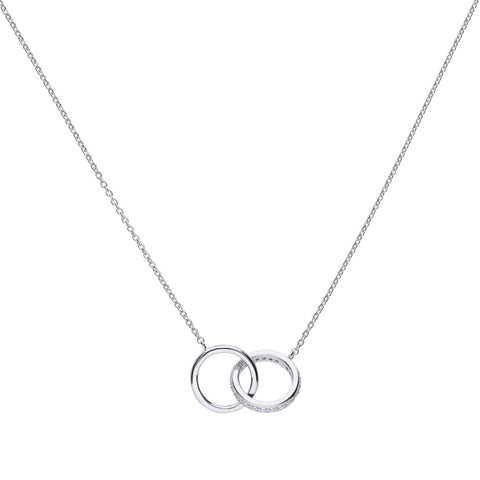 Diamonfire Interlocking Rings Necklace N4235 4704010