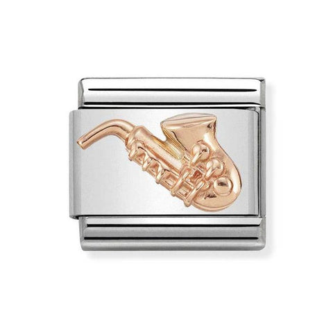 Nomination 9ct Rose Gold Saxophone Charm 430106 12