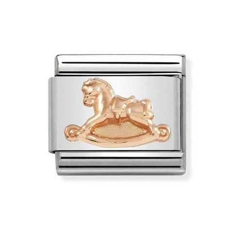 Nomination 9ct Rose Gold Rocking Horse Charm 430106 15