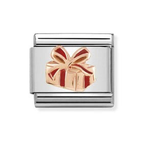 Nomination 9ct Rose Gold Christmas Gift Charm 430203 03
