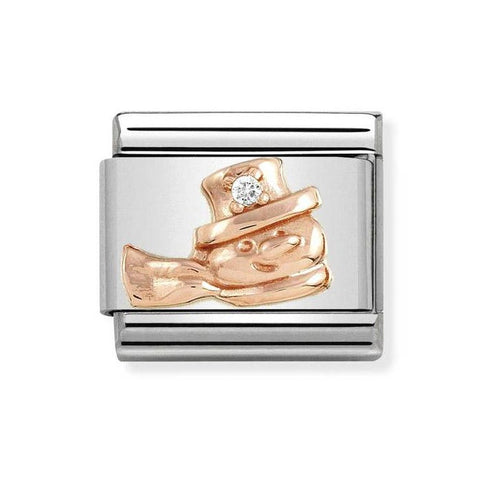 Nomination 9ct Rose Gold Christmas Snowman Charm 430305 20