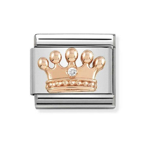 Nomination 9ct Rose Gold Crown Charm 430305 24
