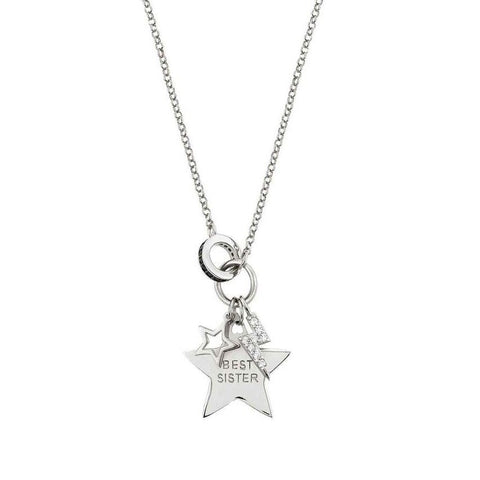 Nomination - Easychic Silver Best Sister Star Necklace 147902 042