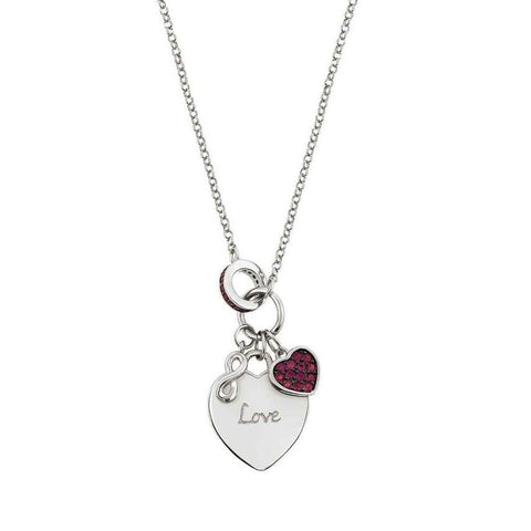 Nomination - Easychic Silver Engraved Heart Necklace 147902 043