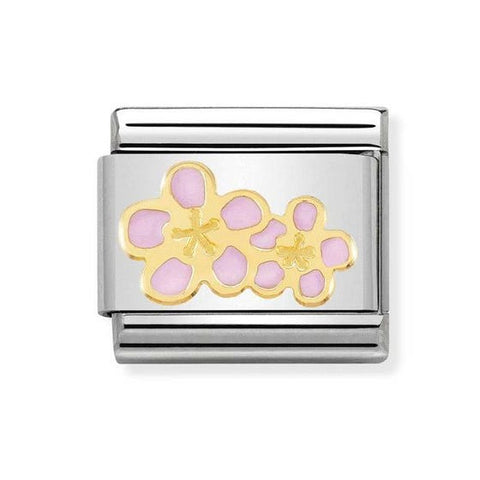 Nomination 18ct Gold & Enamel Peace with Flower Charm 030207 06