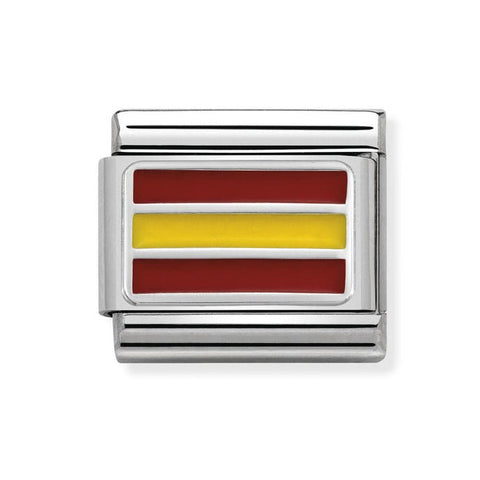 Nomination Silver & Enamel Spain Flag Charm 330207 22