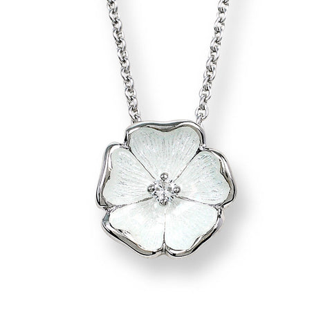 Nicole Barr - Sterling Silver 12mm White Rose Necklace NN0018YC 3504047