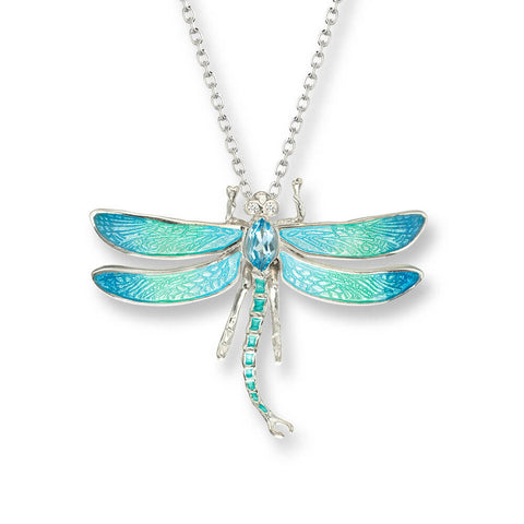 Nicole Barr - Sterling Silver Blue 30mm Dragonfly Necklace NN0343SA 3504015
