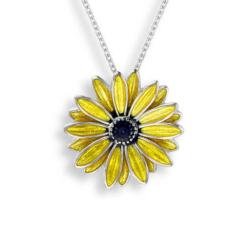 Nicole Barr - Sterling Silver Yellow African Daisy Necklace NN0361C 3504048