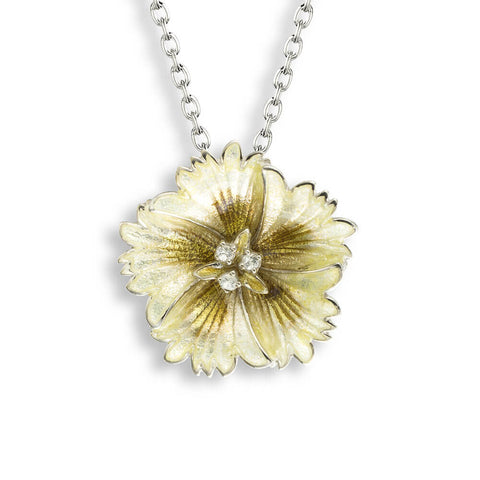 Nicole Barr - 14mm Sterling Silver Yellow Sweetness Necklace with White Sapphire NN0362YB