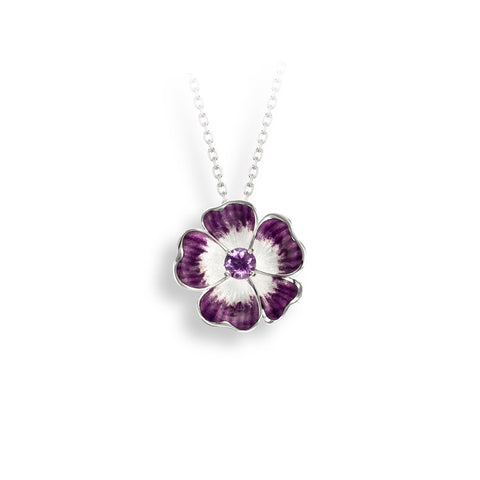 Nicole Barr - Sterling Silver Purple Rose Necklace with Amethyst NN0364SB