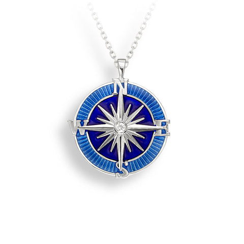 Nicole Barr - Sterling Silver Blue Compass Necklace NN0370YB 3504049