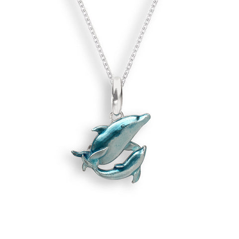 Nicole Barr - Sterling Silver Blue Dolphin Necklace NN0398A 3504042