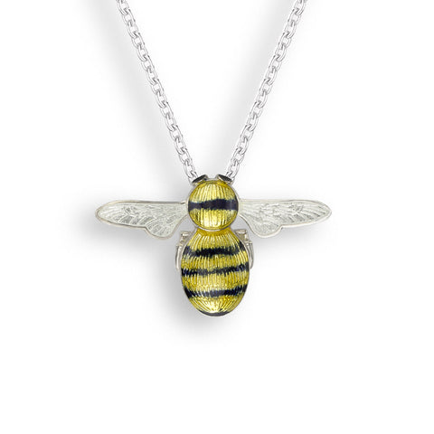 Nicole Barr - Sterling Silver Yellow & Black Bee Necklace NN0401A