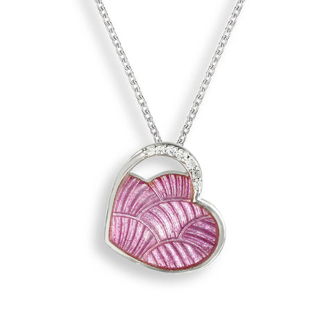 Nicole Barr - Sterling Silver Pink Heart Necklace NN0404YA 3504051