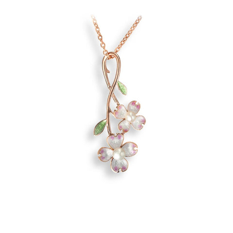 Nicole Barr - Rose Gold Plated Dogswood Spray Necklace NN0411A-RG 3504053