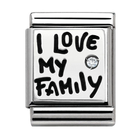 Nomination BIG Silver I Love My Family Charm 332312