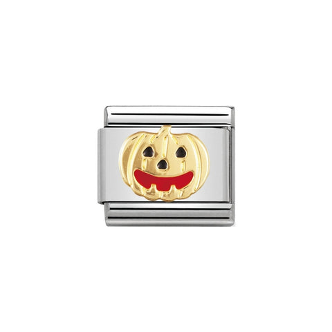 Nomination 18ct Gold & Enamel Pumpkin Charm 030216 05