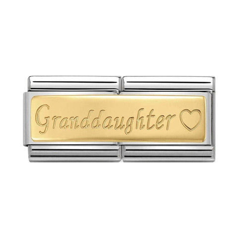 Nomination 18k Gold Granddaughter Double Link Charm 030710 15
