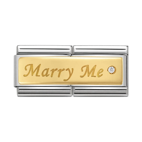 Nomination 18k Gold Marry Me Double Link Charm 030730 01