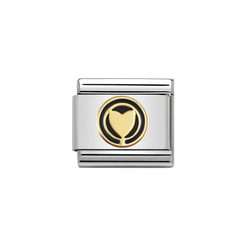 Nomination 18ct Gold & Enamel Black Infinite Love Charm 030279 04