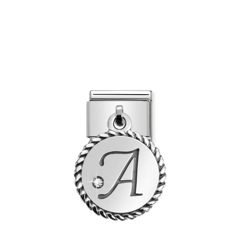 Nomination Hanging Letter A Charm 031715 01