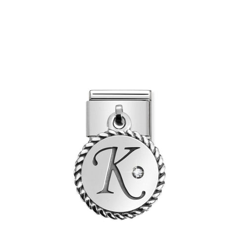 Nomination Hanging Letter K Charm 031715 11