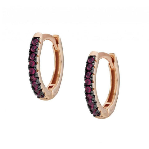 Nomination - Easychic Rose Gold Hoop Earrings with Red CZ 147903 12