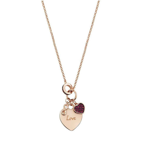 Nomination - Easychic Rose Gold Engraved Heart Necklace 147902 047