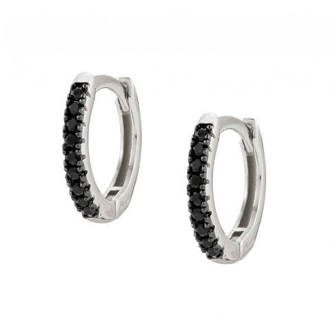 Nomination - Easychic Silver Hoop Earrings with Black CZ 147903 10