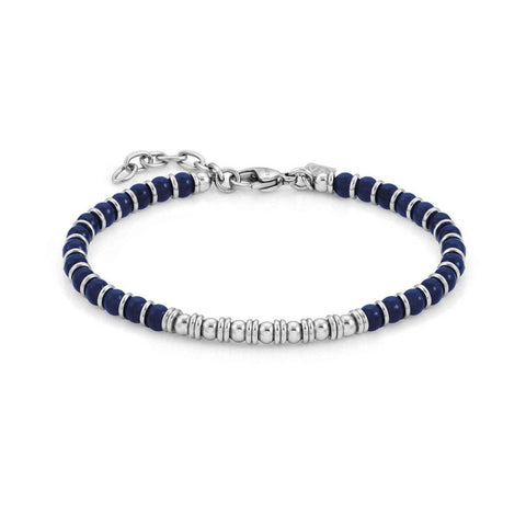 Nomination Instinct Bead Bracelet with Blue Agate 027902 43