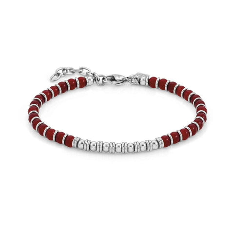 Nomination Instinct Bead Bracelet with Red Agate 027902 27