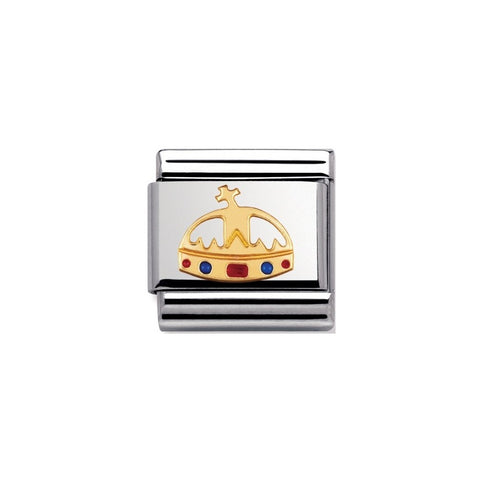 Nomination 18ct Gold & Enamel Crown 030243 18